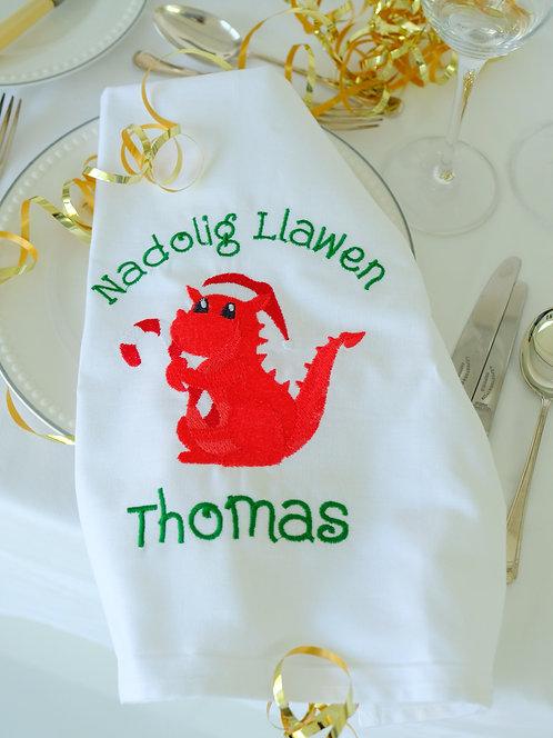 Nadolig Llawen Tea Towel