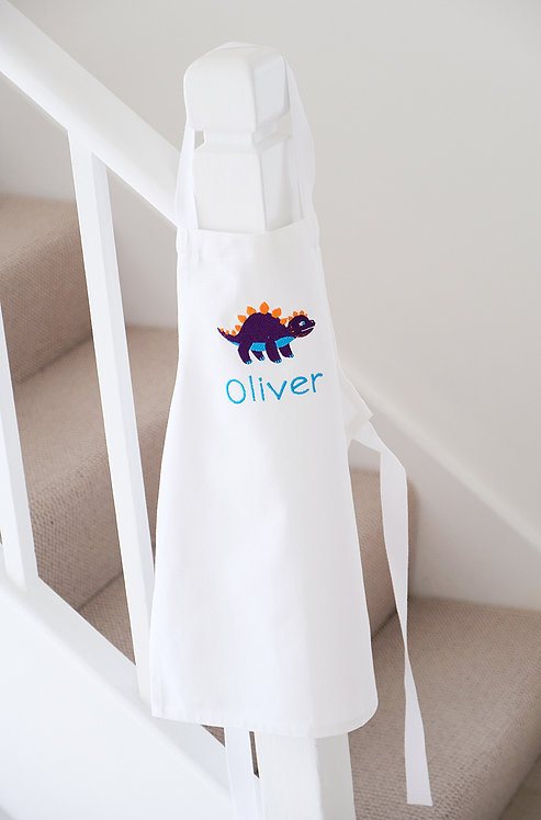 Toddlers Personalised Dinosaur Apron