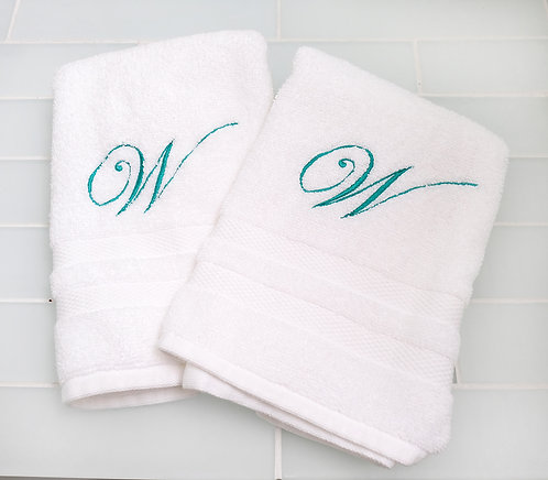Large Sweeping Monogram Hand Towel