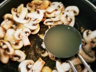 White Wine Mushroom Reduction over Angel Hair Pasta