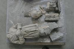 terre cuite emplie de ciment