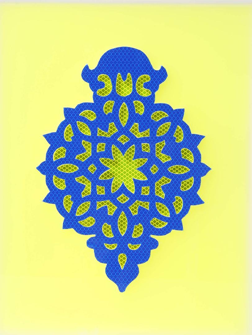 Reflecting Blue on Yellow