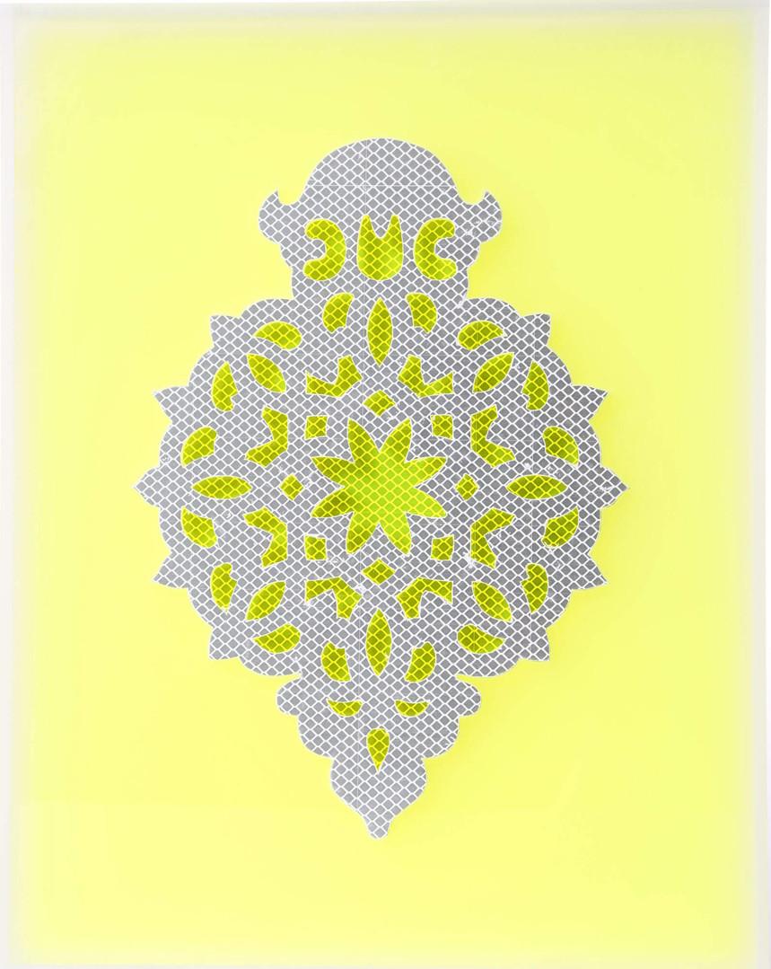 Reflecting White on Yellow