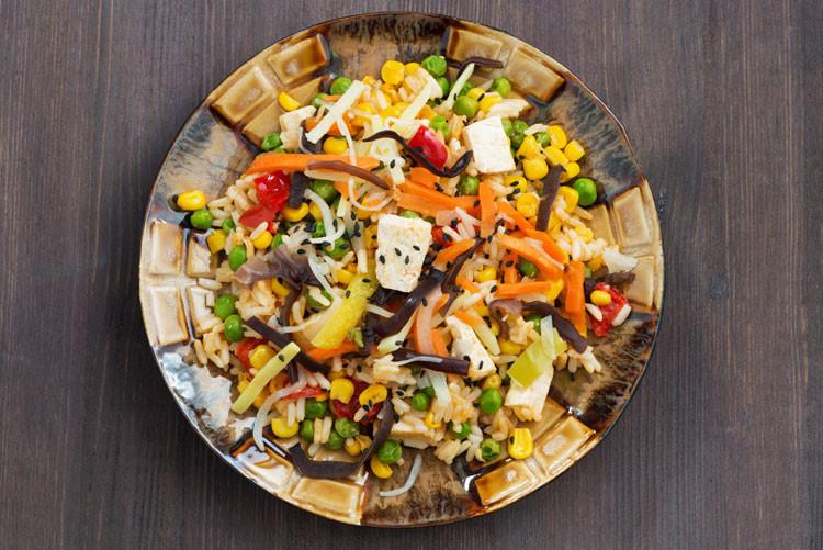 Food, vegan, tofu