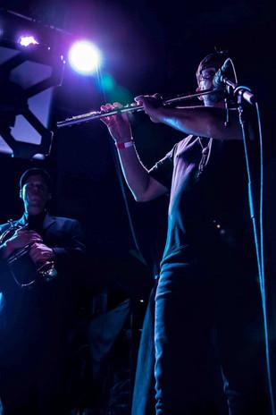 Damon on flute