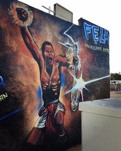 Afrikan Shrine Mural in Compton