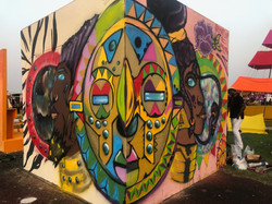 Afrochela Mural corner