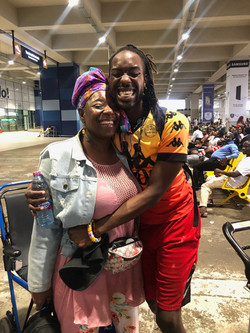 Mother Arrives in Accra