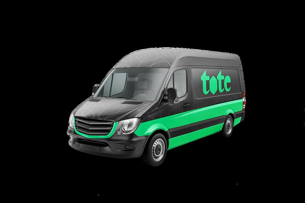 Image of Tote branded van