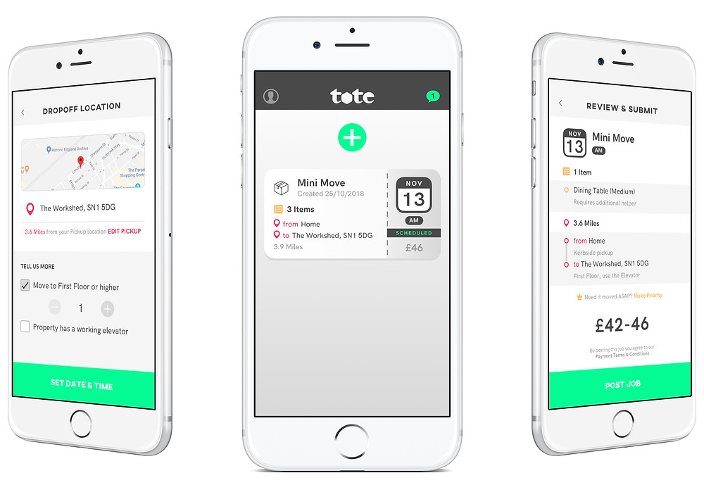 Tote App links Van Drivers and Consumers in Swindon