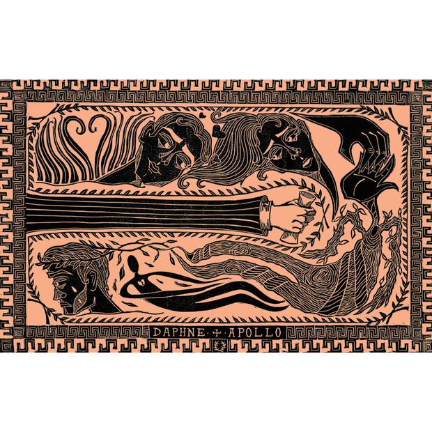 Daphne and Apollo Linoprint
