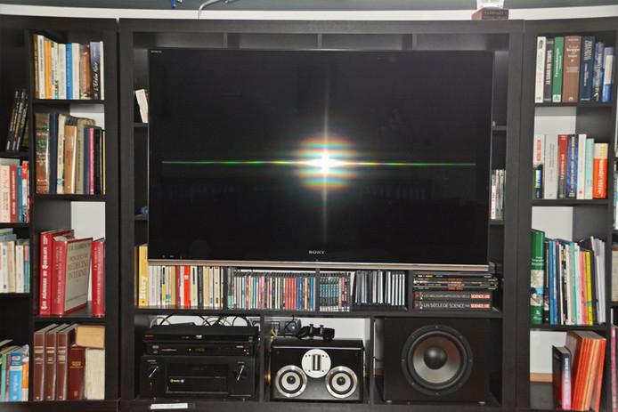 Kit home cinema intégré dans un meuble bibliothèque