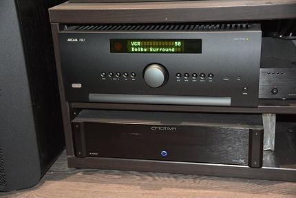 Ampli Arcam AVR850 et ampli de puissance Emotiva