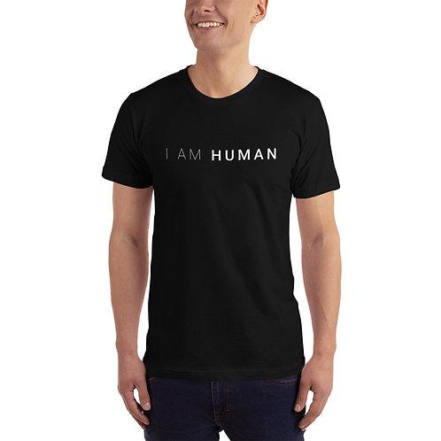I AM HUMAN Unisex Jersey T-Shirt in Black