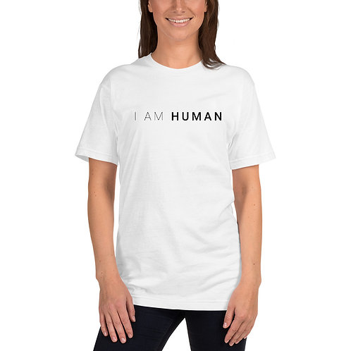 I AM HUMAN Unisex Jersey T-Shirt in White