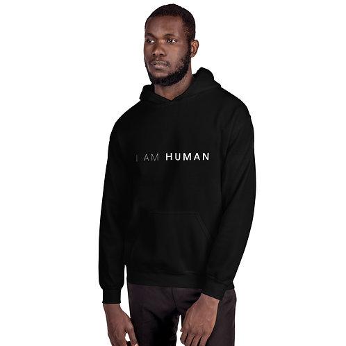 I AM HUMAN Unisex Hoodie in Black