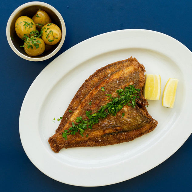 Meuniére fried plaice rødspætte