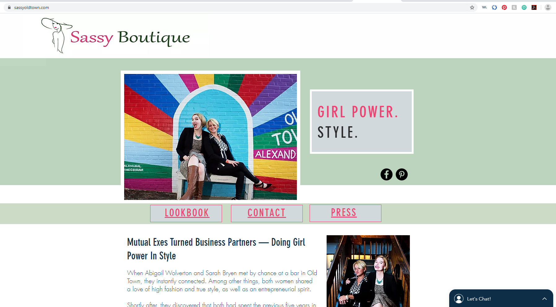 Website - Boutique