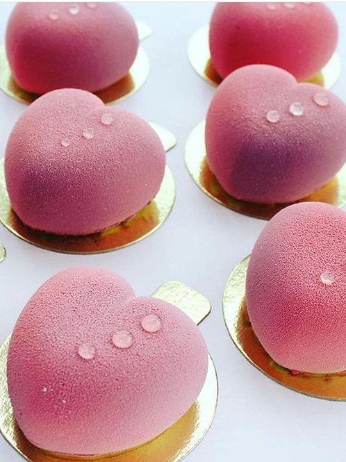 荔枝玫瑰慕絲蛋糕(24件) -迷你