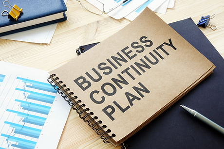 BCP Business continuity plan is on the t