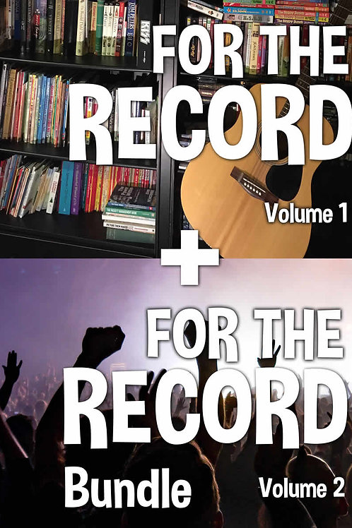 "Bundle: ""For The Record Vol 1"" PLUS! ""For The Record Vol 2"""
