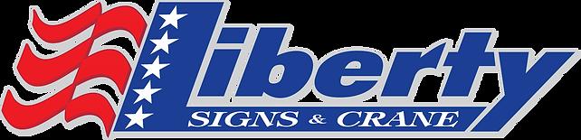 Liberty Signs and Crane Logo Five Stars.