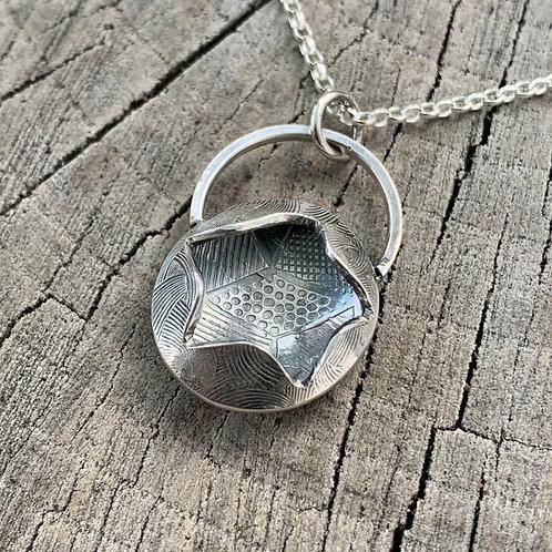 'Secret hopes' Sterling silver necklace