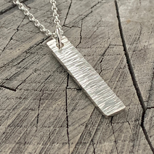 'Bar bark' Sterling Silver Necklace