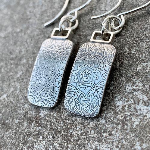 'Star flowers' Sterling silver earrings