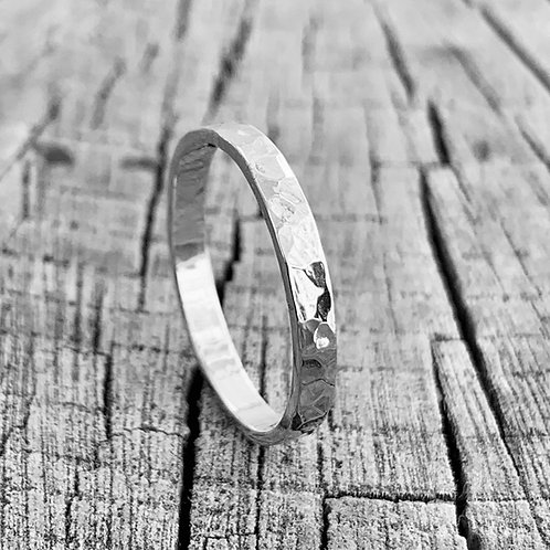 Sterling silver band - 2mm