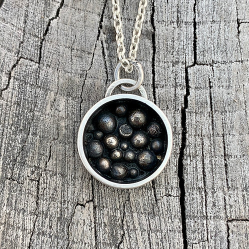 'All my eggs in one basket' Sterling silver nest necklace