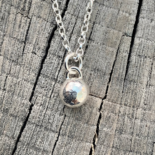 'Ballsed up again' Sterling silver ball necklace