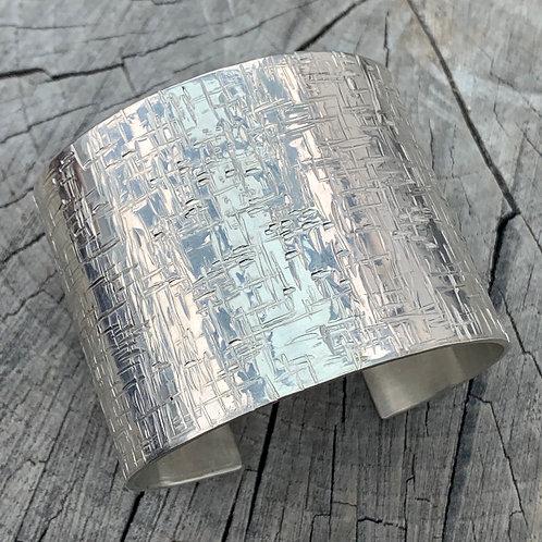 'Twinkle twinkle' Sterling silver cuff bangle