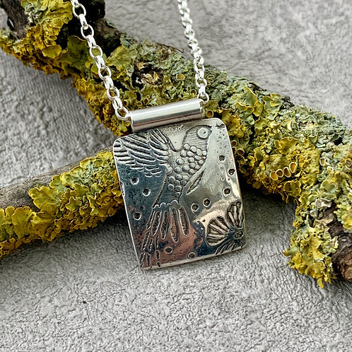 'Hummingbird heaven' Sterling silver necklace