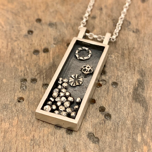 'Boxed up' Sterling silver necklace