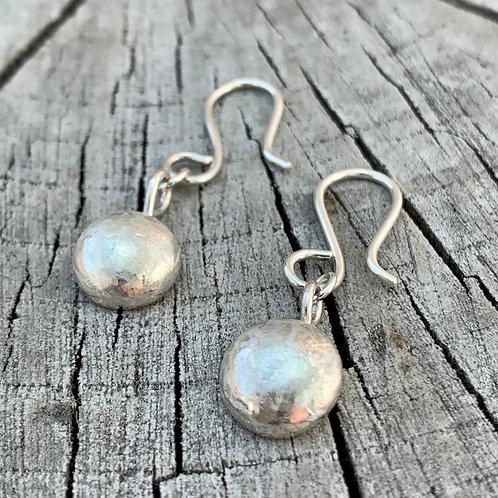 'Drops of silver' Sterling silver drop earrings