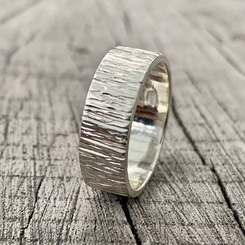 Sterling silver band - 6mm