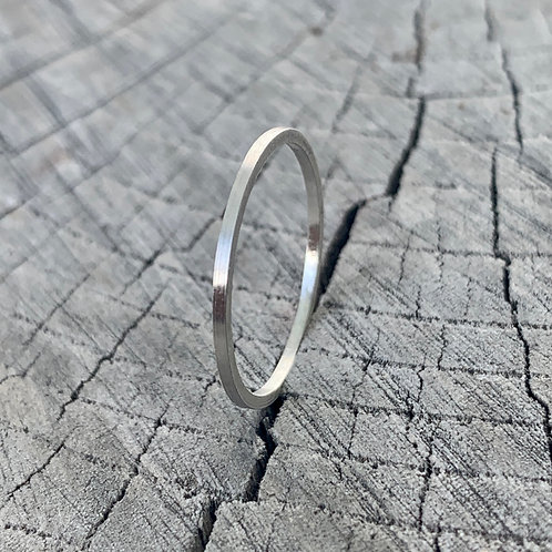 Sterling silver band - 1mm