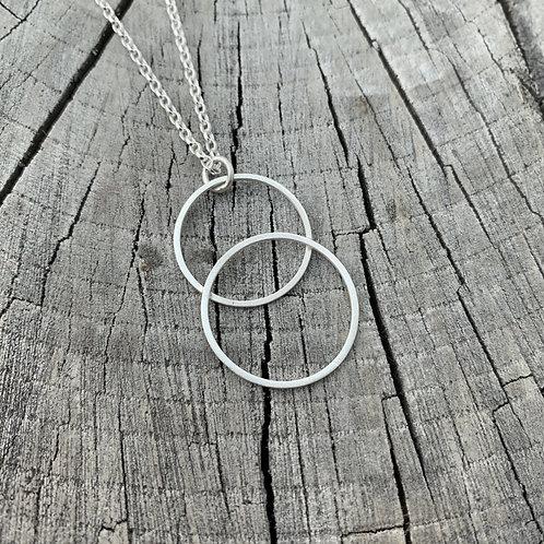 'Loop the loop' Sterling silver necklace