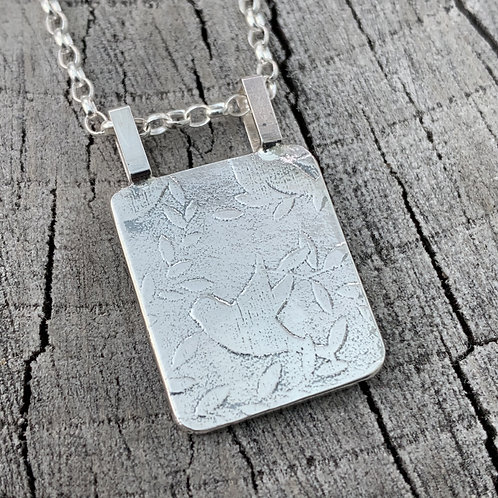 'Chirp chirp 18' Sterling silver necklace