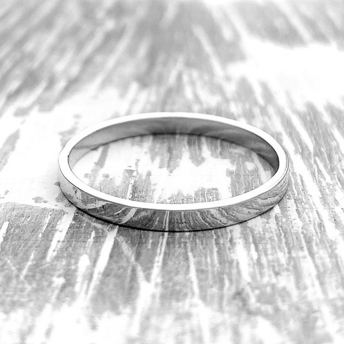 Sterling silver band - 2mm wide
