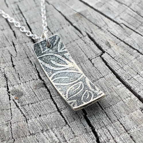 'Leafy lanes' Sterling silver necklace