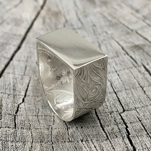 'D-ream' Sterling silver ring