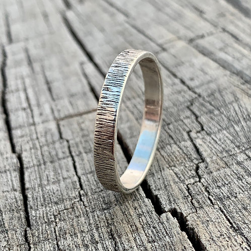 Sterling silver band - 3mm