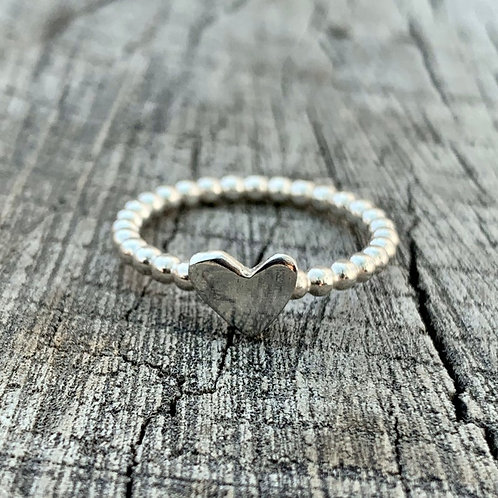 'My heart' Sterling silver ring