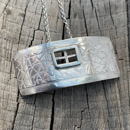 'Window to my heart' Sterling silver necklace