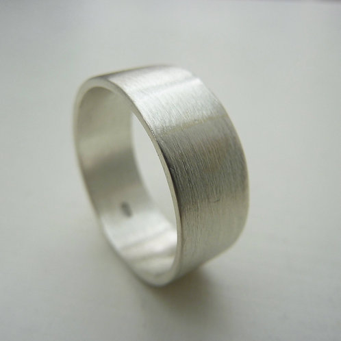 Sterling silver band - 8mm