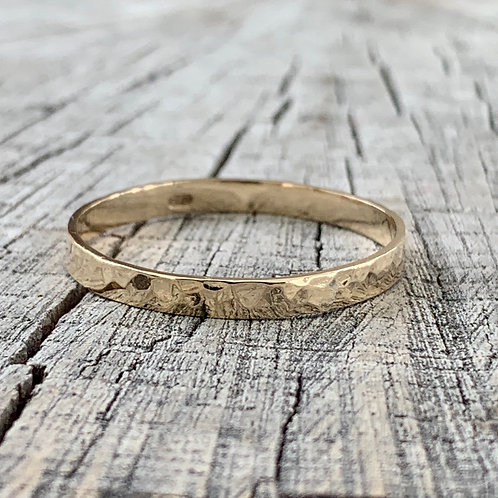 9ct gold wedding band - 3mm wide
