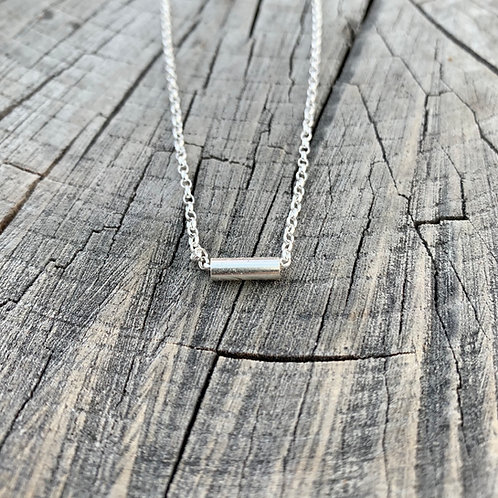 'Roll over' Sterling silver necklace