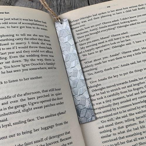 'Geometric' Metal bookmark